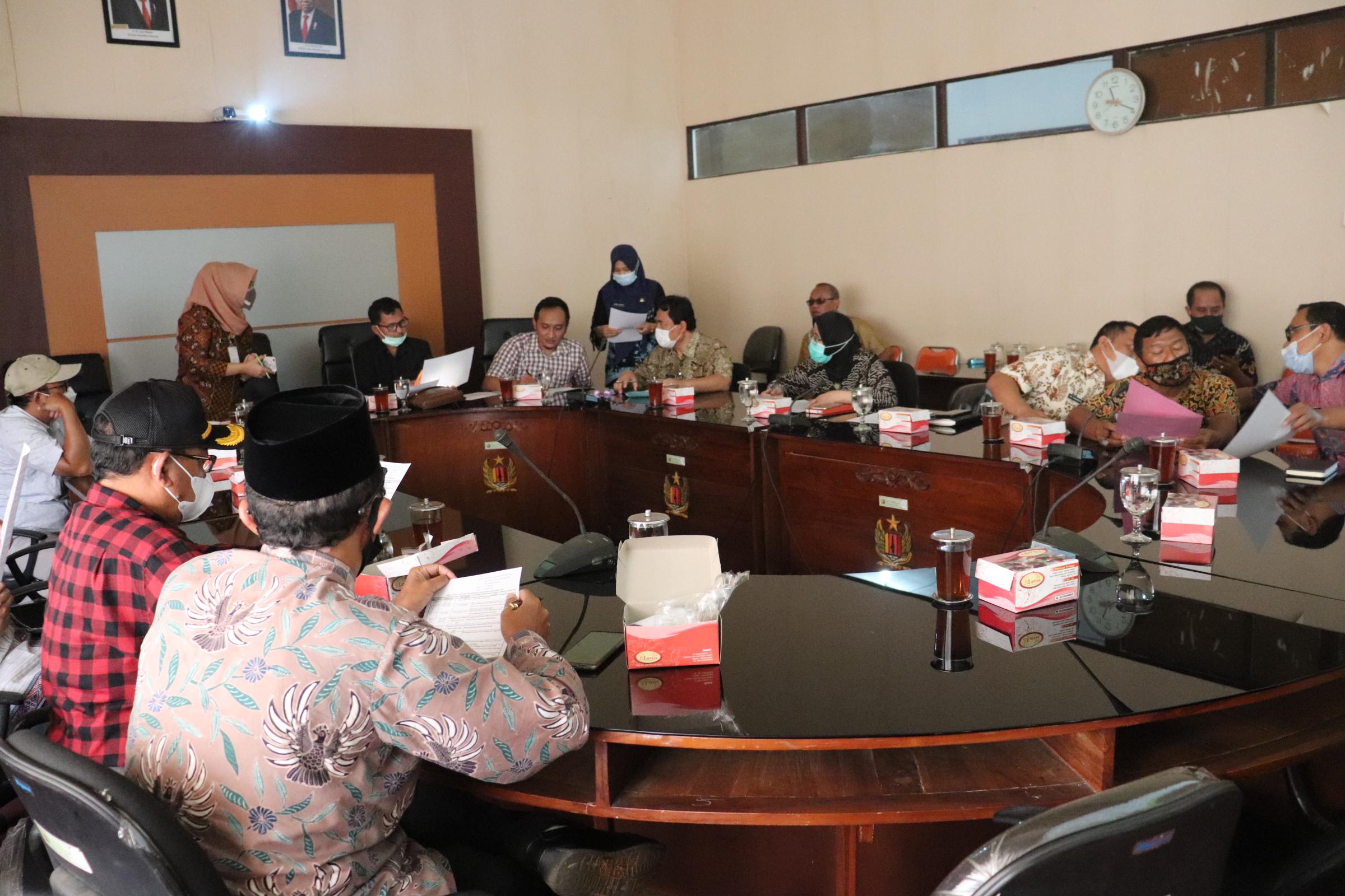 Wakil Ketua Sumar Rosul, SIP Memimpin Rapat Kerja Badan Musyawarah DPRD Kabupaten Pekalongan